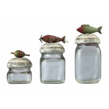 Fly Fishing Lure Storage Jar (Set of 3)