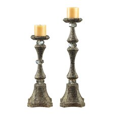 Composite Hampden Ave Candlesticks (Set of 2)