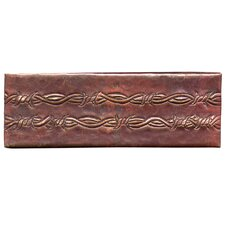 "Barbed Wire 6"" x 2"" Copper Border Tile in Dark Copper"