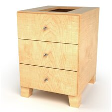 "18"" 3-Drawer Drawer Base Footed Cabinet"