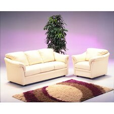 Salerno 4 Seat Leather Living Room Set