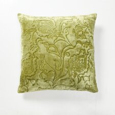 Green Fields Dentelle Velvet Pillow