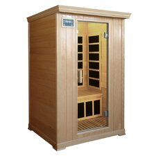 2-Person Infrared Sauna with Eight Carbon Heaters and Color Therapy Lights