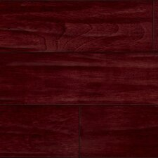 "5-1/2"" Brazilian Cherry Antiquity Hand-Scraped 3/4"" Solid Line Flooring in Rouge/Red"