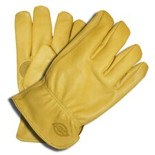 Grain Cowhide Driver Fleece Lined Gloves