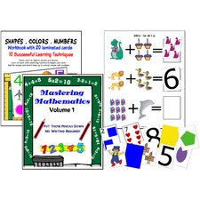 Math And Shape Workbook and Card Sets