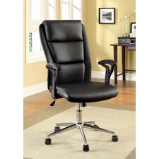 Ravi Hight-Back Leatherette Office Chair with Arms
