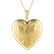 Sterling Silver/ 14k Gold Heart Locket Necklace