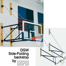 DGW Side-Fold Wall Mounted Basketball Backstop