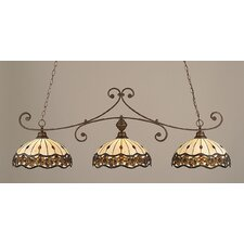 Curl 3 Light Kitchen Island Pendant
