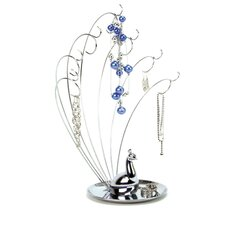 Peacock Metal Jewelry Stand