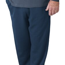 Men's Arthritis Fleece Pants with Velcro Brand Fasteners in Black