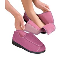 Womens Diabetic Slippers in Dusty Rose