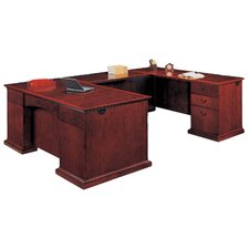 Del Mar Executive L-Shape Bow Front Desk with Right Return