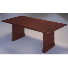 Governor's 8' Rectangular Conference Table with Twin Slab End Bases