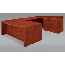 Fairplex Right/Left Bow Front U- shape Desk Office Suite