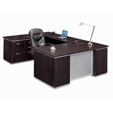 Pimlico Left Personal File U-Shape Executive Desk (Flat Pack)