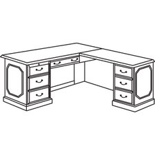 "Governor's Right Executive 66"" ""L"" Desk"