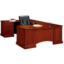 "Belmont Right Executive Corner ""U"" Desk with 6 Drawers"