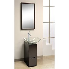 "9.88"" Glass Slim Line Vanity Set"