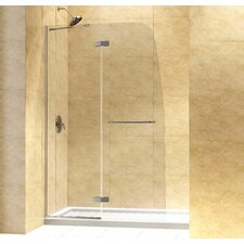 Aqua Ultra Hinged Shower Door and SlimLine Shower Base