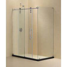 Enigma-Z Fully Frameless Sliding Shower Enclosure