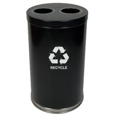 "18"" W Recycling Unit with Two Openings"
