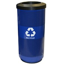 20 Gallon Perforated Recycling Receptacle with Optional Round or Slot Opening