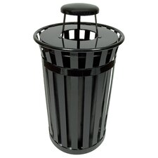 Oakley Collection 24 Gallon Trash Receptacle with Rain Cap