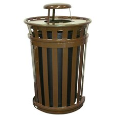 Oakley Collection 36 Gallon Trash Receptacle with Slide Gate & Rain Cap