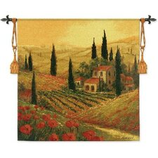 Poppies of Toscano II BW Wall Hanging