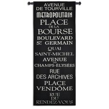 Streets of Paris Tapestry Wall Hanging