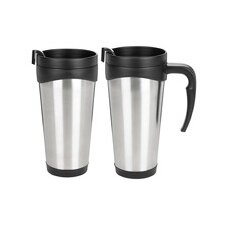16 Oz. Stainless Steel Jovian Travel Tumbler in Black
