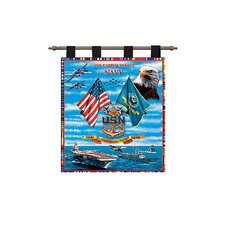 Navy Sea Power Tapestry