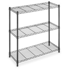 Three Tier Supreme Wide Shelving in Black