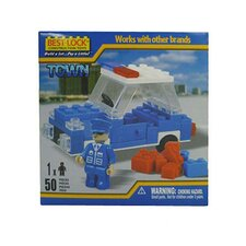 Construction Policeman and Car - 50 Pieces