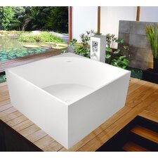 "PureScape 41"" x 41"" Freestanding AquaStone Bathtub"