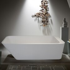 "PureScape 67"" x 30"" Freestanding AquaStone Bathtub"