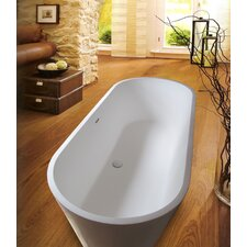 "PureScape 67"" x 28"" Freestanding AquaStone Bathtub"