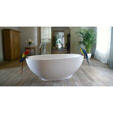 "Karolina Freestanding AquaStone 71"" x 26"" Bathtub"