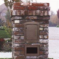 Manchester Column Mounted Mailbox w/ Newspaper Box and Address Plaque