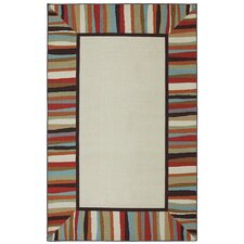 Outdoor/Patio Patio Border Rainbow Rug
