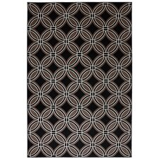 Outdoor Patio Woven Black Iron Ore Rug