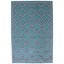 Outdoor Patio Woven Parsonage Winter Mist Rug