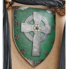 Celtic Warriors Sculptural Wall Shield