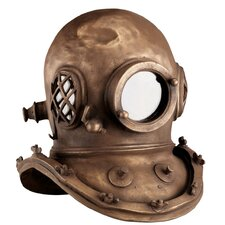 Replica Deep Sea Diver's Helmet in Antique Brass