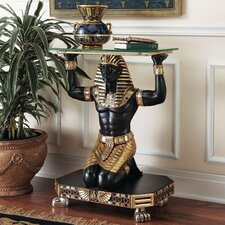 Servant to the Pharaoh Glass Topped Console Table