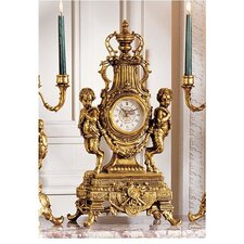 Grande Chateau Beaumont Clock in Antique Faux Gold