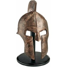 Greek Spartan Helmet in Faux Bronze