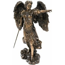 Uriel the Archangel Sculpture in Rich Faux Bronze